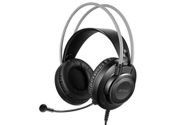 Слушалки с микрофон A4TECH Fstyler FH200U, Стерео, USB, Черен/Сив