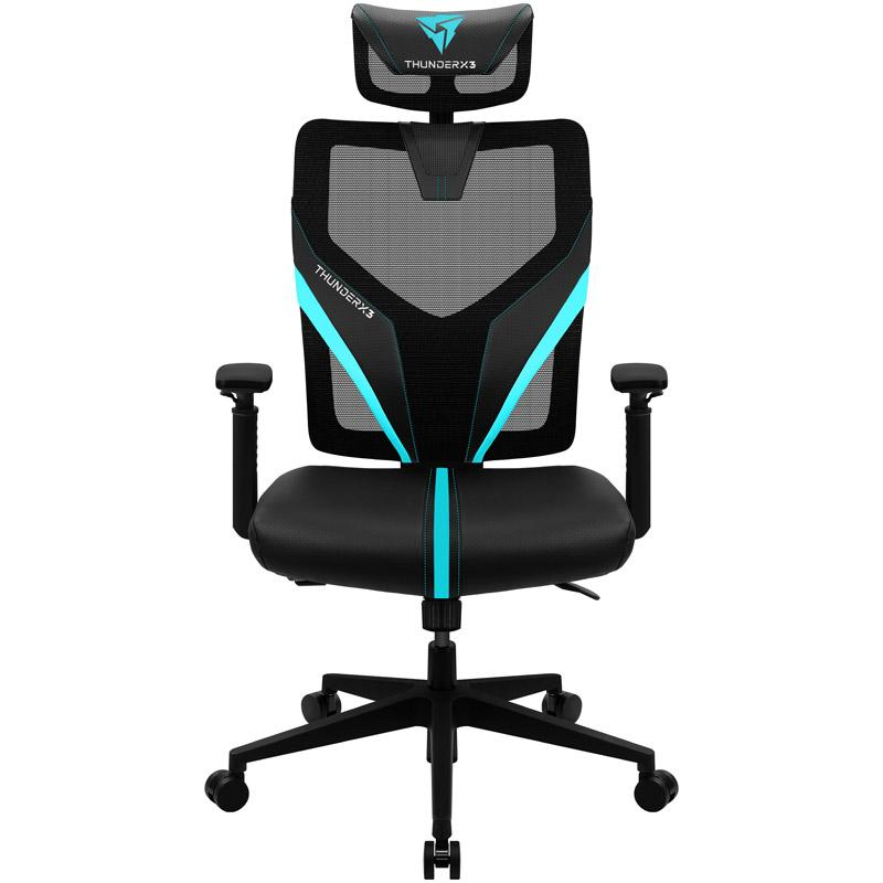 Геймърски стол ThunderX3 YAMA1 Черно/Синьо-2