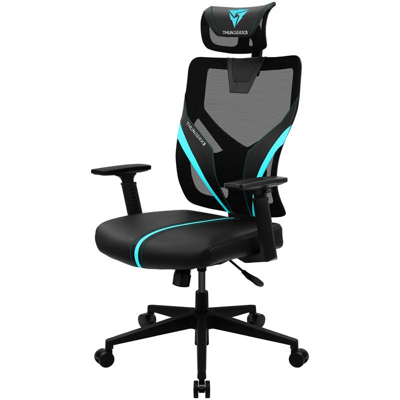 Геймърски стол ThunderX3 YAMA1 Черно/Синьо-3