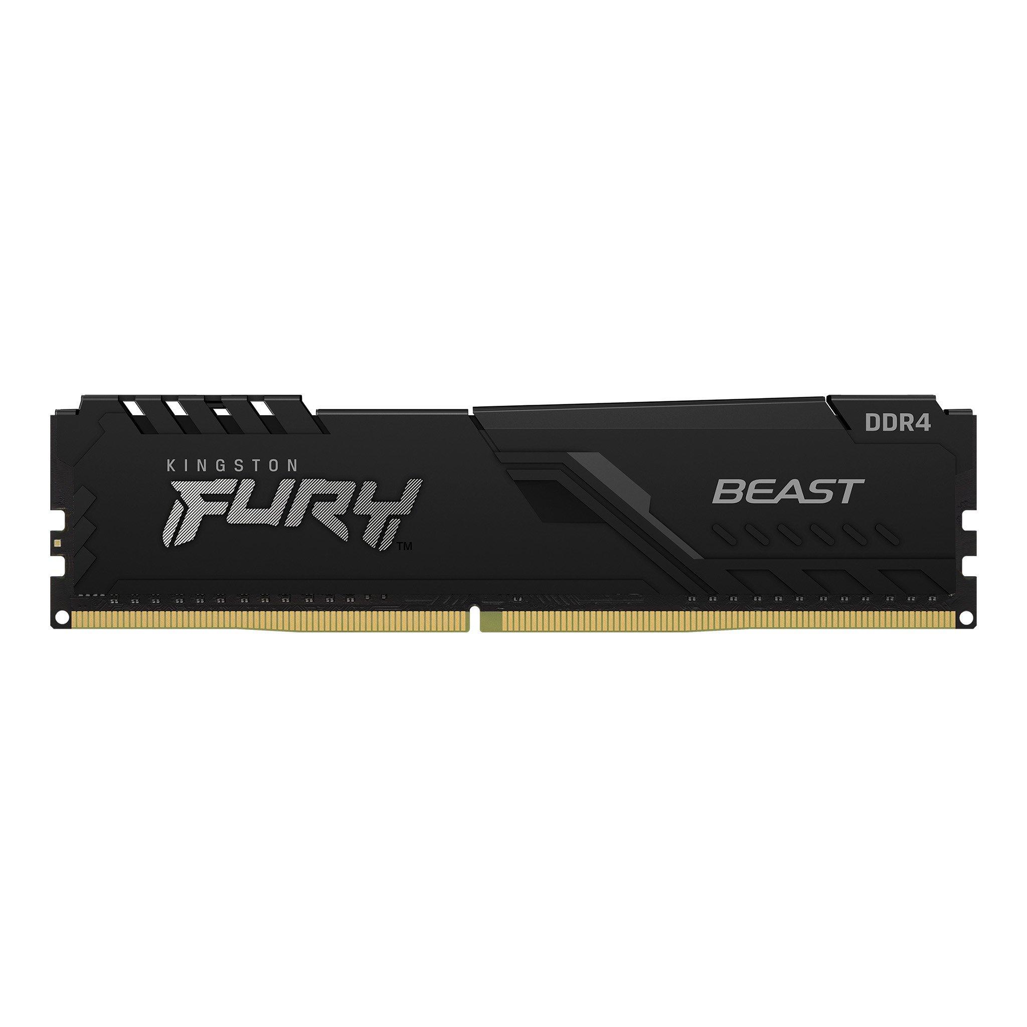 Памет Kingston FURY Beast Black 32GB(4x8GB) DDR4 PC4-28800 3600MHz CL17 KF436C17BBK4/32-2
