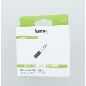 Преходник  HAMA 205194, 3.5мм женски жак - 6.3мм мъжки жак-2