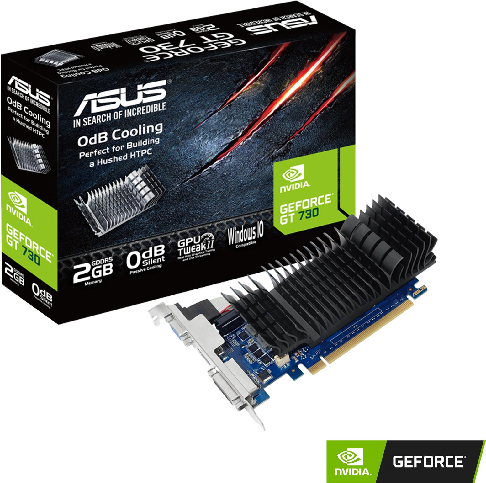 Видео карта ASUS GeForce GT 730 2GB GDDR5, low profile-4