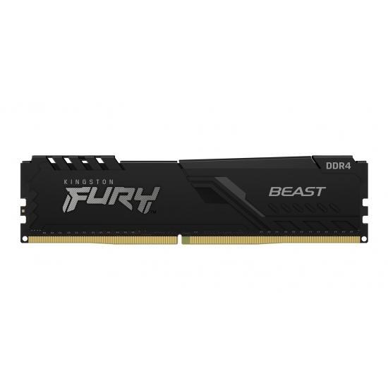 Памет Kingston FURY Beast Black 16GB DDR4 PC4-28800 3600MHz CL18 KF436C18BB/16
