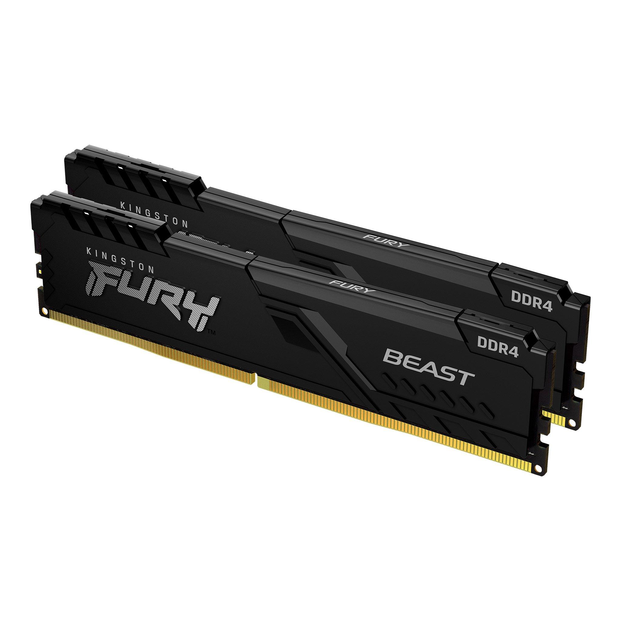 Памет Kingston FURY Beast Black 64GB(2x32GB) DDR4 PC4-28800 3600MHz CL18 KF436C18BBK2/64