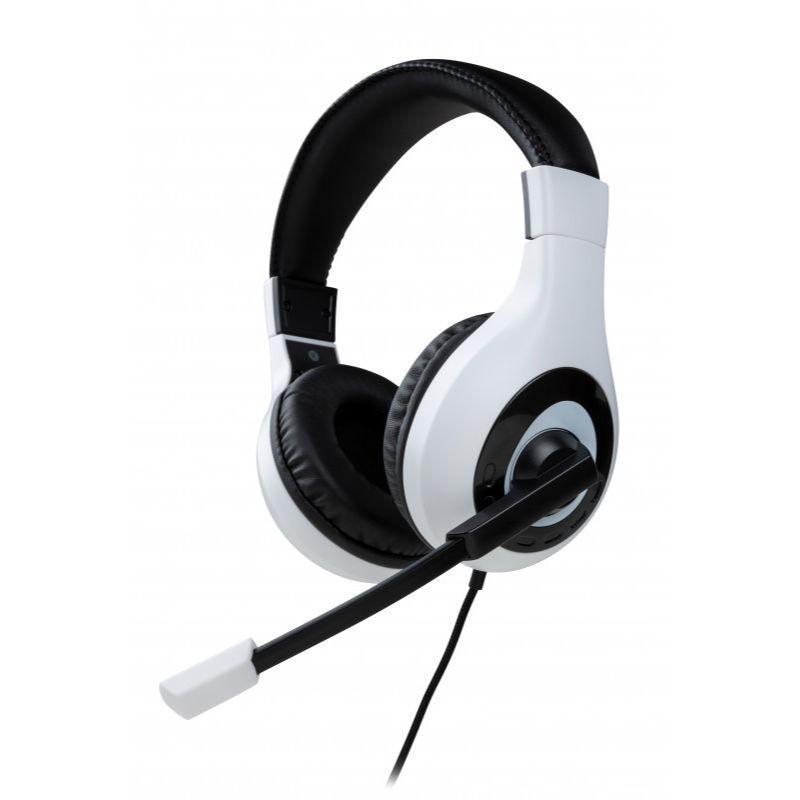 Геймърски слушалки Nacon Bigben PS5 Official Headset V1 White, Микрофон, Бял