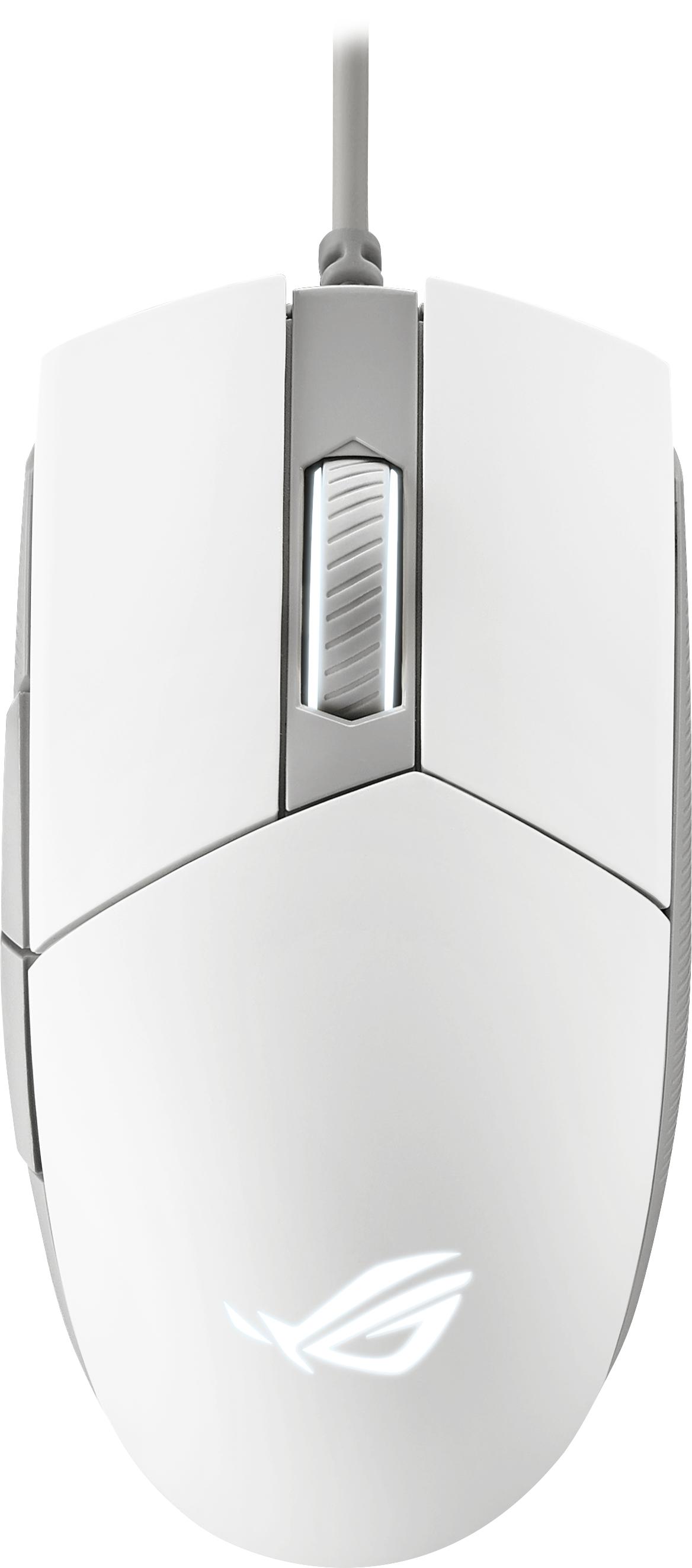 Геймърска мишка ASUS ROG Strix Impact II Moonlight White