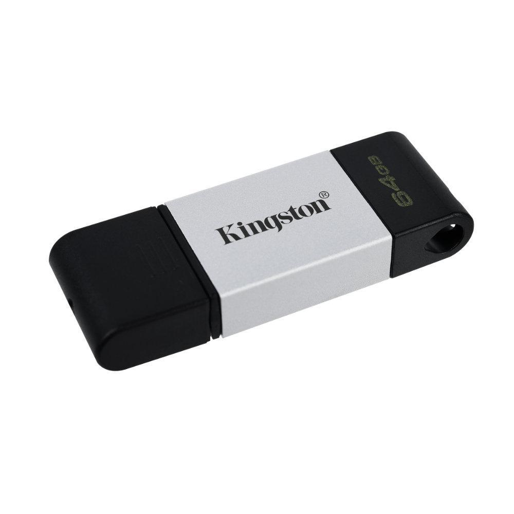 USB памет KINGSTON DataTraveler 80, 64GB, USB-C 3.2 Gen 1, Черна