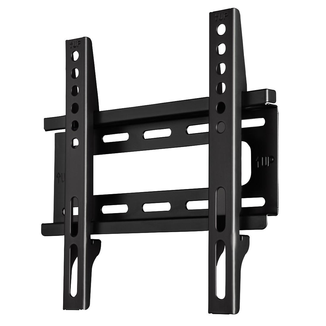 Стенна стойка за TV HAMA 108714, Фиксирана, 19-46, 25 кг, Черна