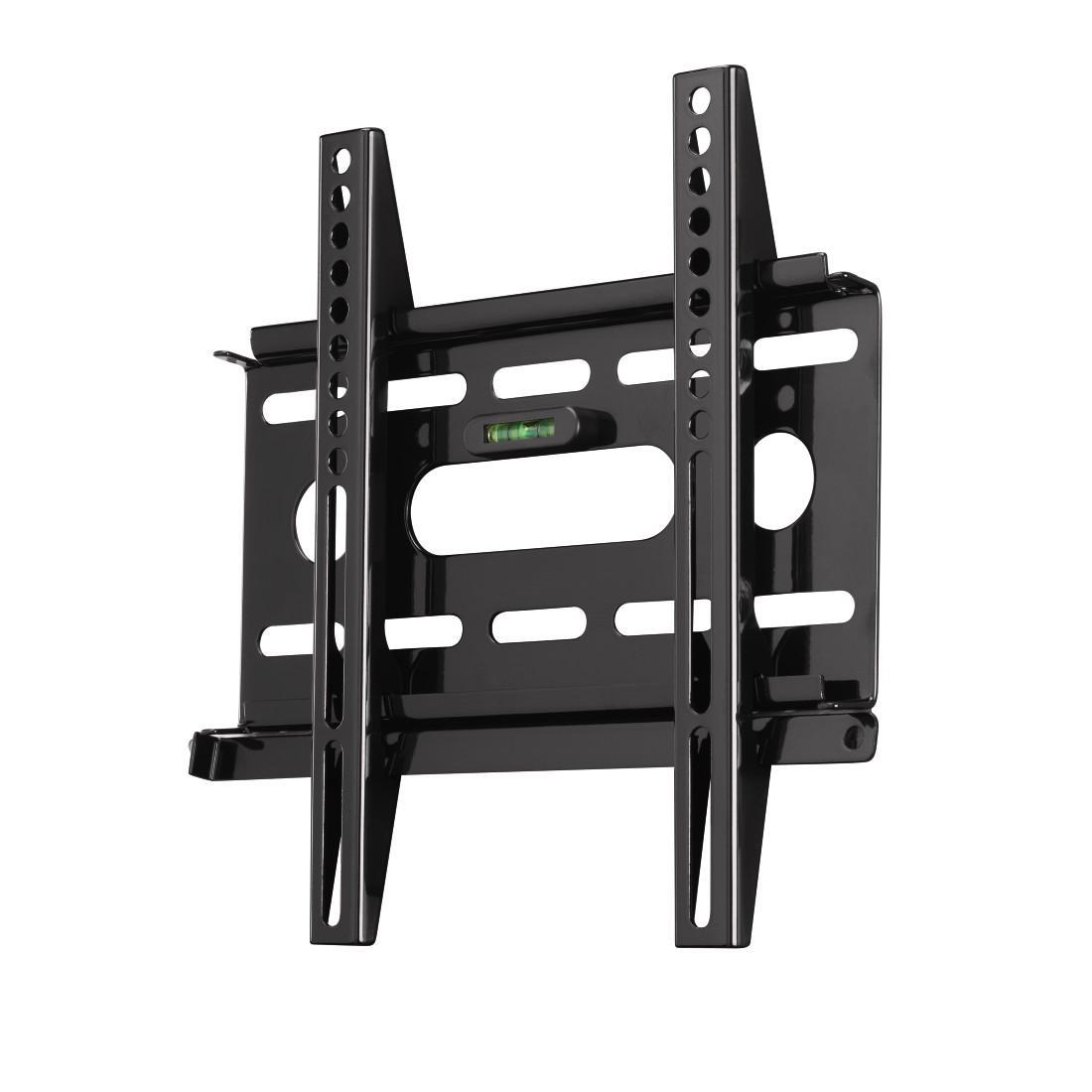 Стенна стойка HAMA Ultraslim 84424, Фиксирана, 19-37, 25 кг, Черна