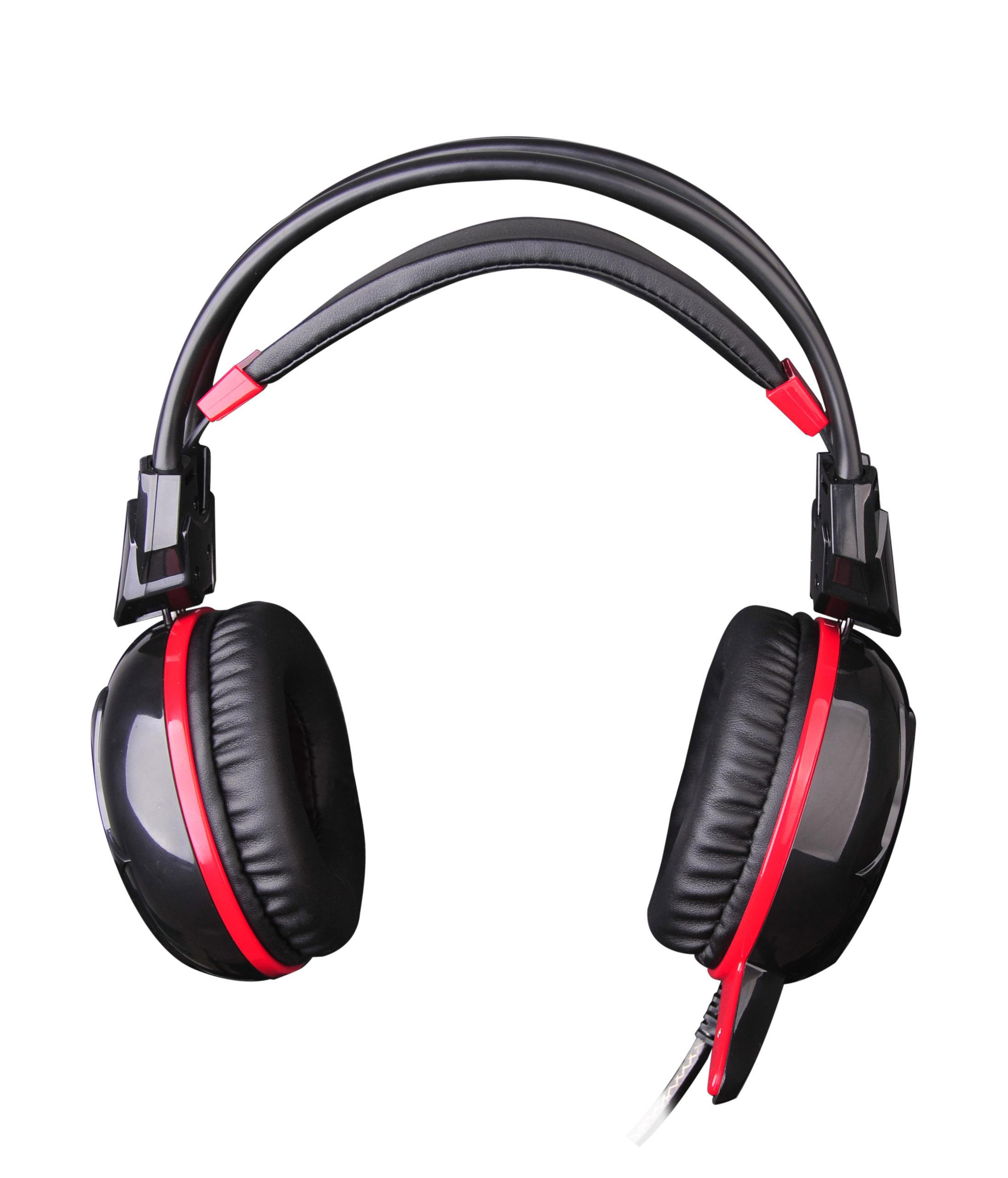 Геймърски слушалки A4TECH, Bloody G300, Микрофон, черно с червено-2