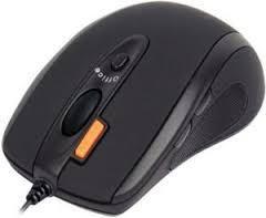 Жична мишка A4Tech N-70FX, V-Track PADLESS, Черен, USB-2