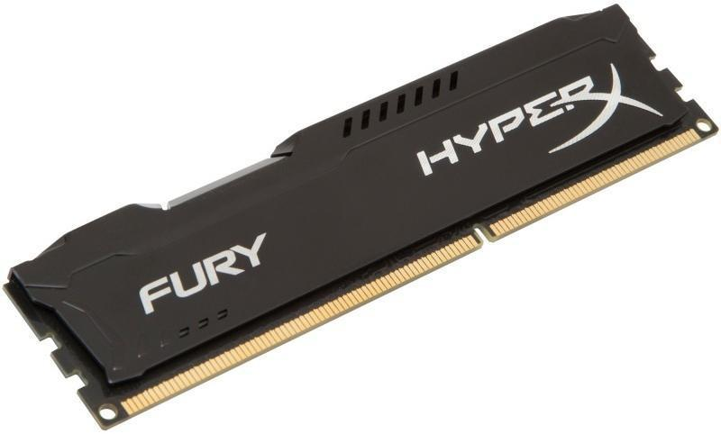Памет HyperX Fury Black 8GB DDR3 PC3-12800 1600MHz CL10 HX316C10FB/8