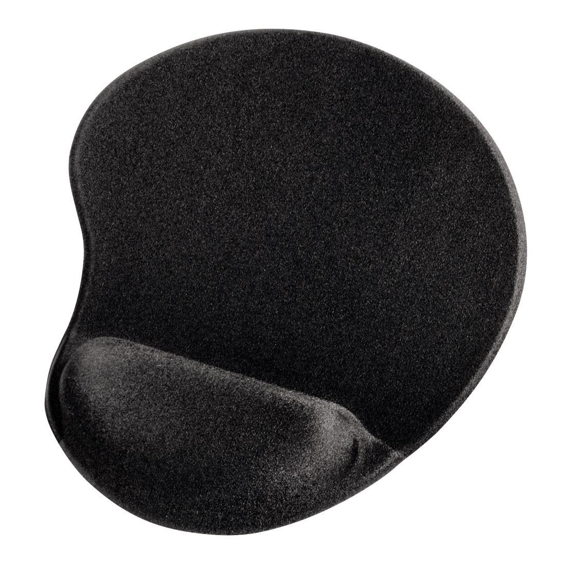 Пад за мишка HAMA Ergonomic 54777- мини, Текстил, Черен