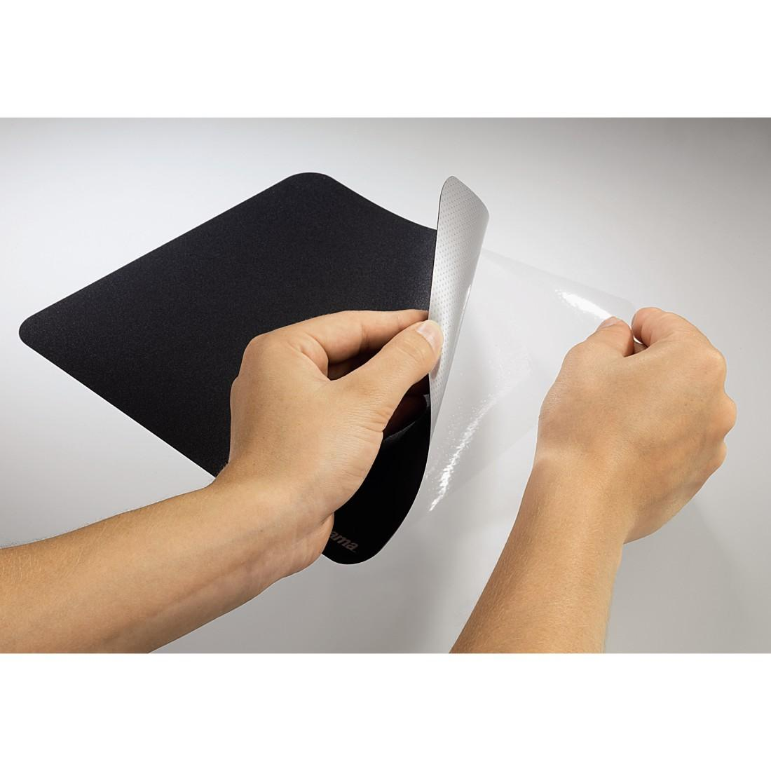 Пад за мишка HAMA - 54750 Basic, самозалепващ, черен-2