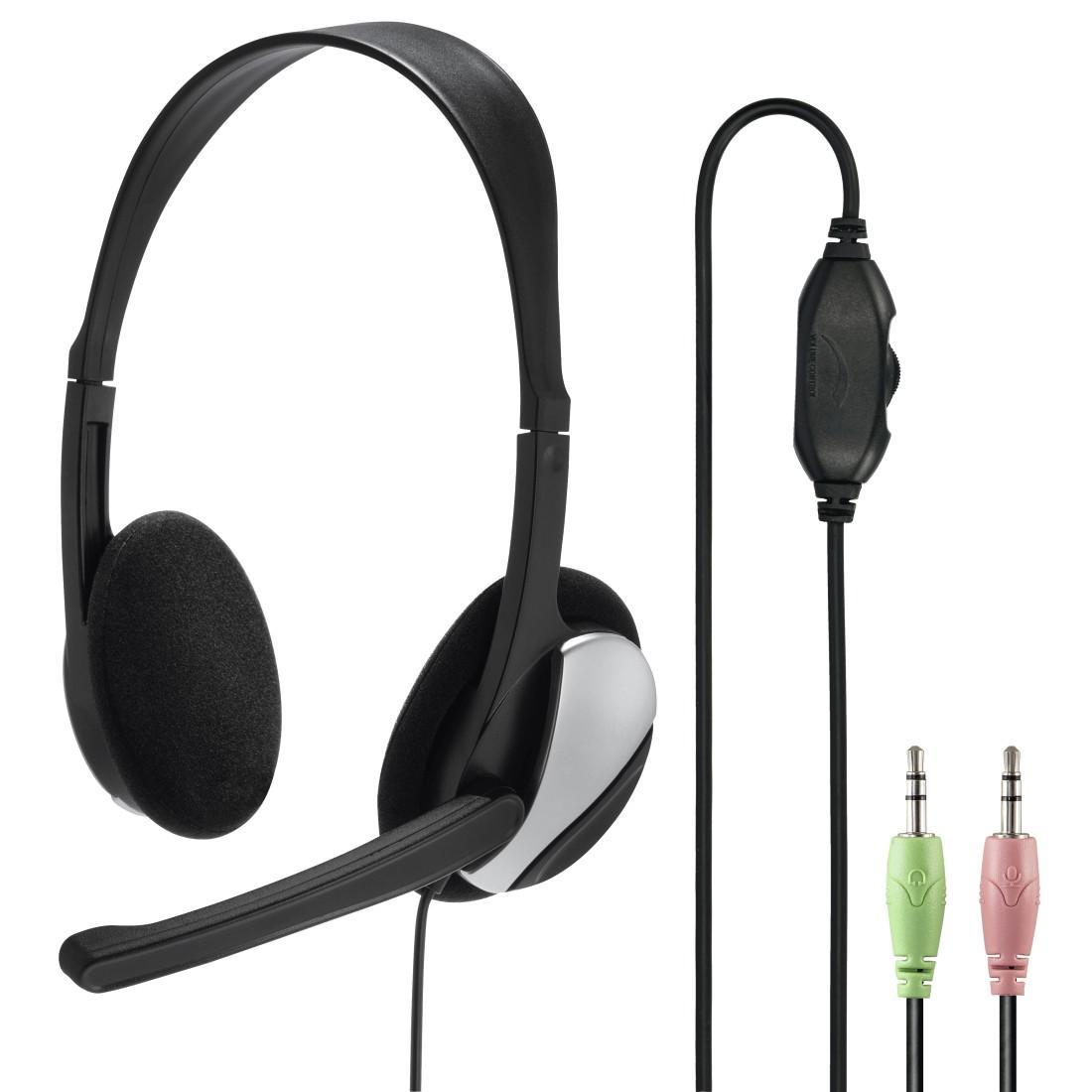 Слушалки HAMA Essential HS-P100 139900, Микрофон, Черен