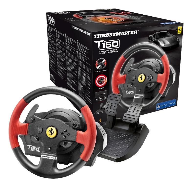 Волан THRUSTMASTER, T150 Ferrari Wheel Force Feedback, за PC / PS3 / PS4-3