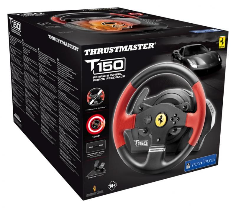 Волан THRUSTMASTER, T150 Ferrari Wheel Force Feedback, за PC / PS3 / PS4-4