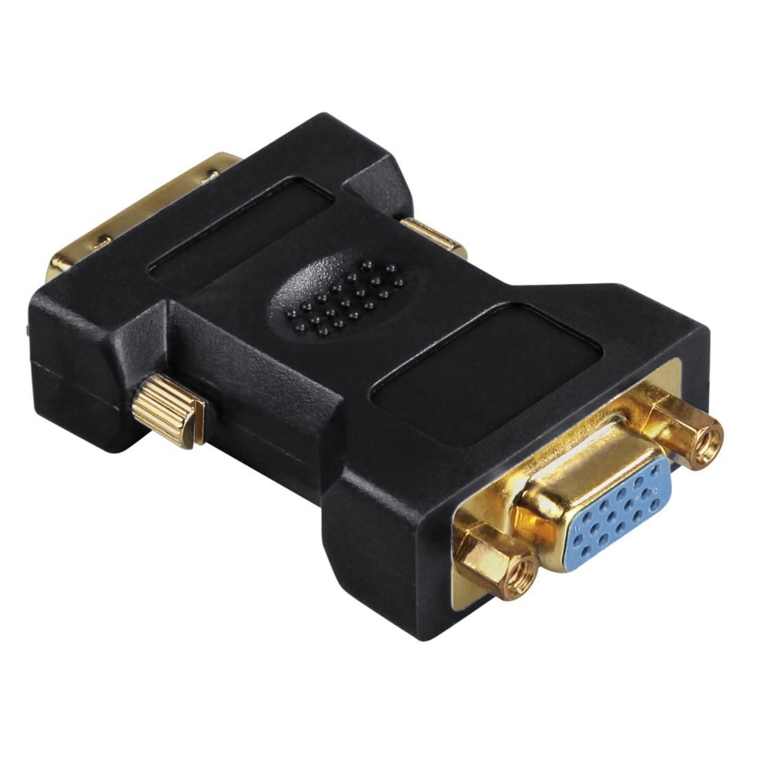 Адаптер HAMA 45073 DVI мъжко - VGA женско, Позлатени конектори, 3 звезди