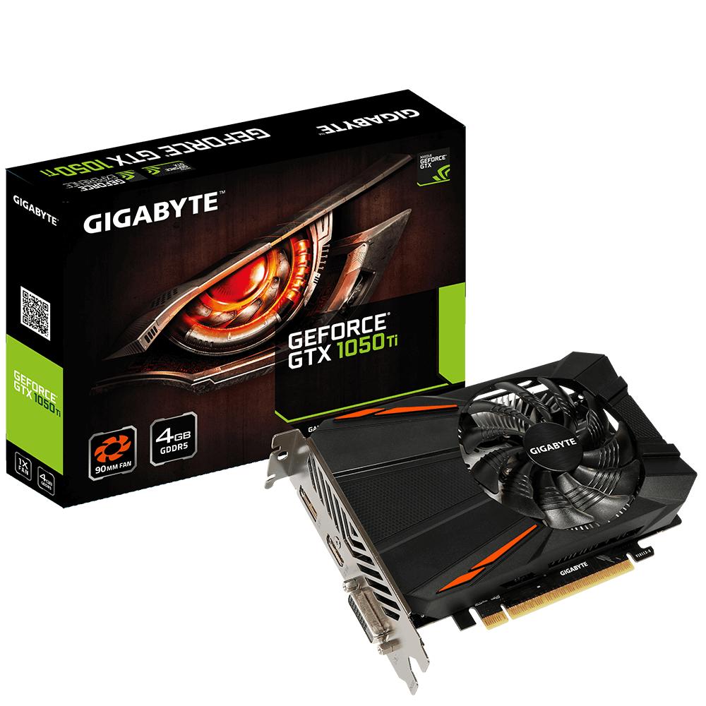 Видео карта GIGABYTE GeForce GTX 1050 Ti D5 4G GV-N105TD5-4GD, GDDR5, 128 bit, DVI-D, DisplayPort, HDMI