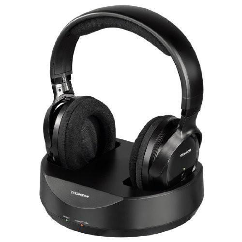 Безжични  слушалки Thomson HAMA-131957, 100м обхват, Черен