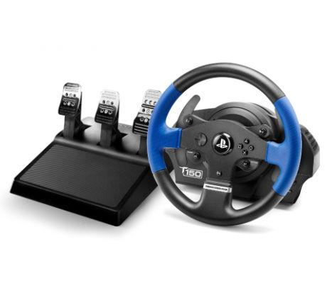Волан THRUSTMASTER Racing Wheel T150 PRO PS3/PS4/PC, Черен/Син-2
