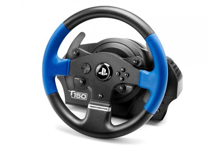 Волан THRUSTMASTER Racing Wheel T150 PRO PS3/PS4/PC, Черен/Син-3