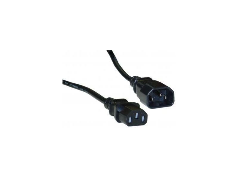 Удължителен захранващ кабел Fortron, 3 pin, Черен