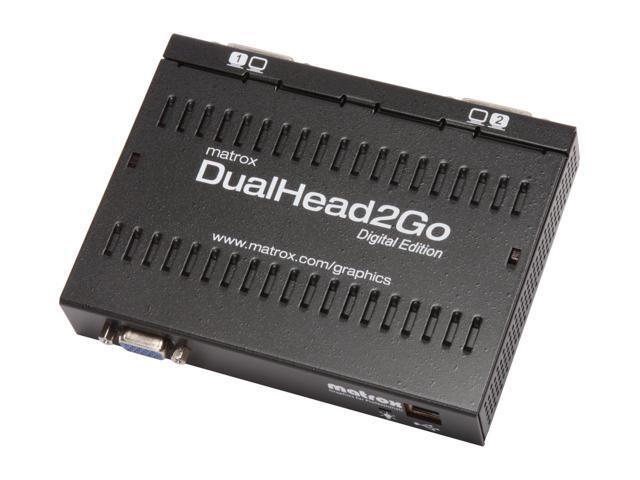 Външен мулти-дисплей адаптер Matrox D2G-A2D-IF за едновременна работа на 2 монитора с VGA вход-2