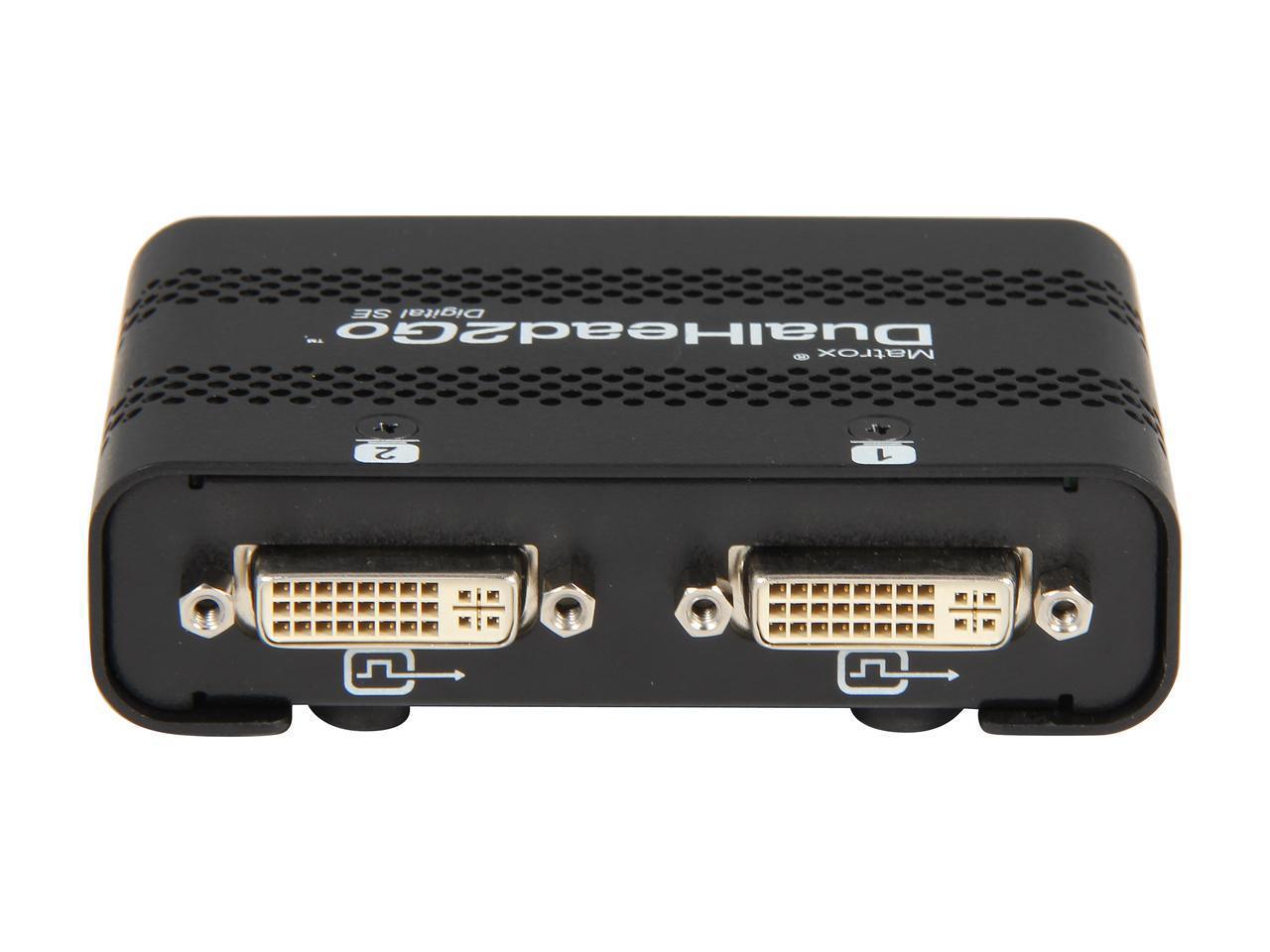 Външен мулти-дисплей адаптер Matrox D2G-DP2D-IF за едновременна работа на 2 монитора с DP вход-3