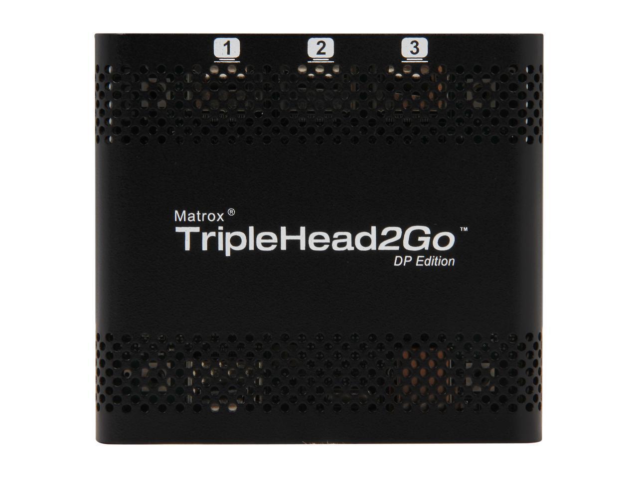 Външен мулти-дисплей адаптер Matrox T2G-DP-MIF за едновременна работа на 3 мониторa с DP вход