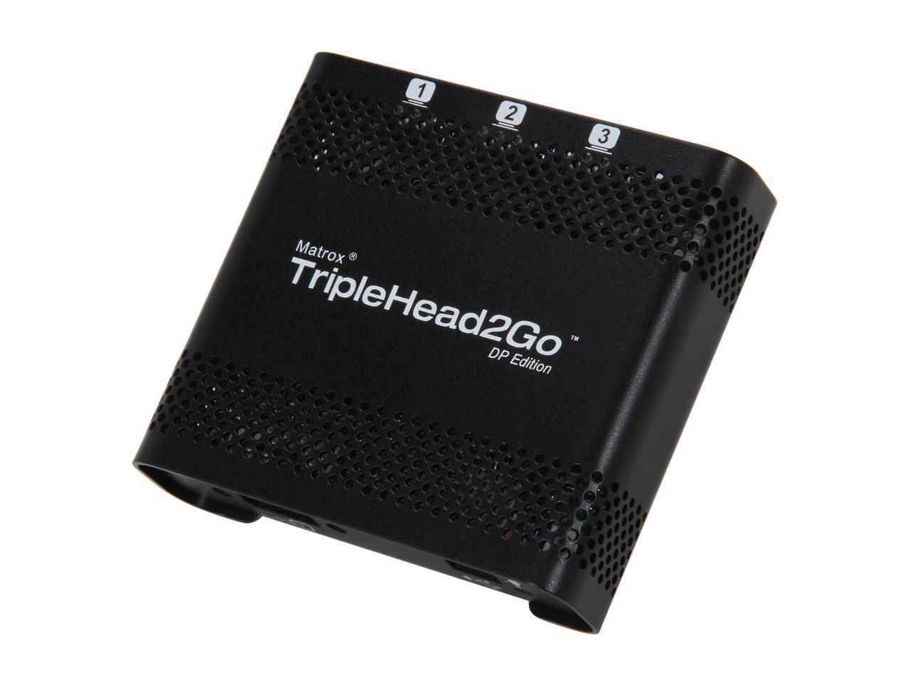 Външен мулти-дисплей адаптер Matrox T2G-DP-MIF за едновременна работа на 3 мониторa с DP вход-4