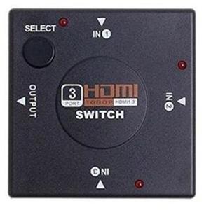 Превключвател Estillo, Автоматичен HDMI 1.4, 3 входа към 1 изход, Черен-2