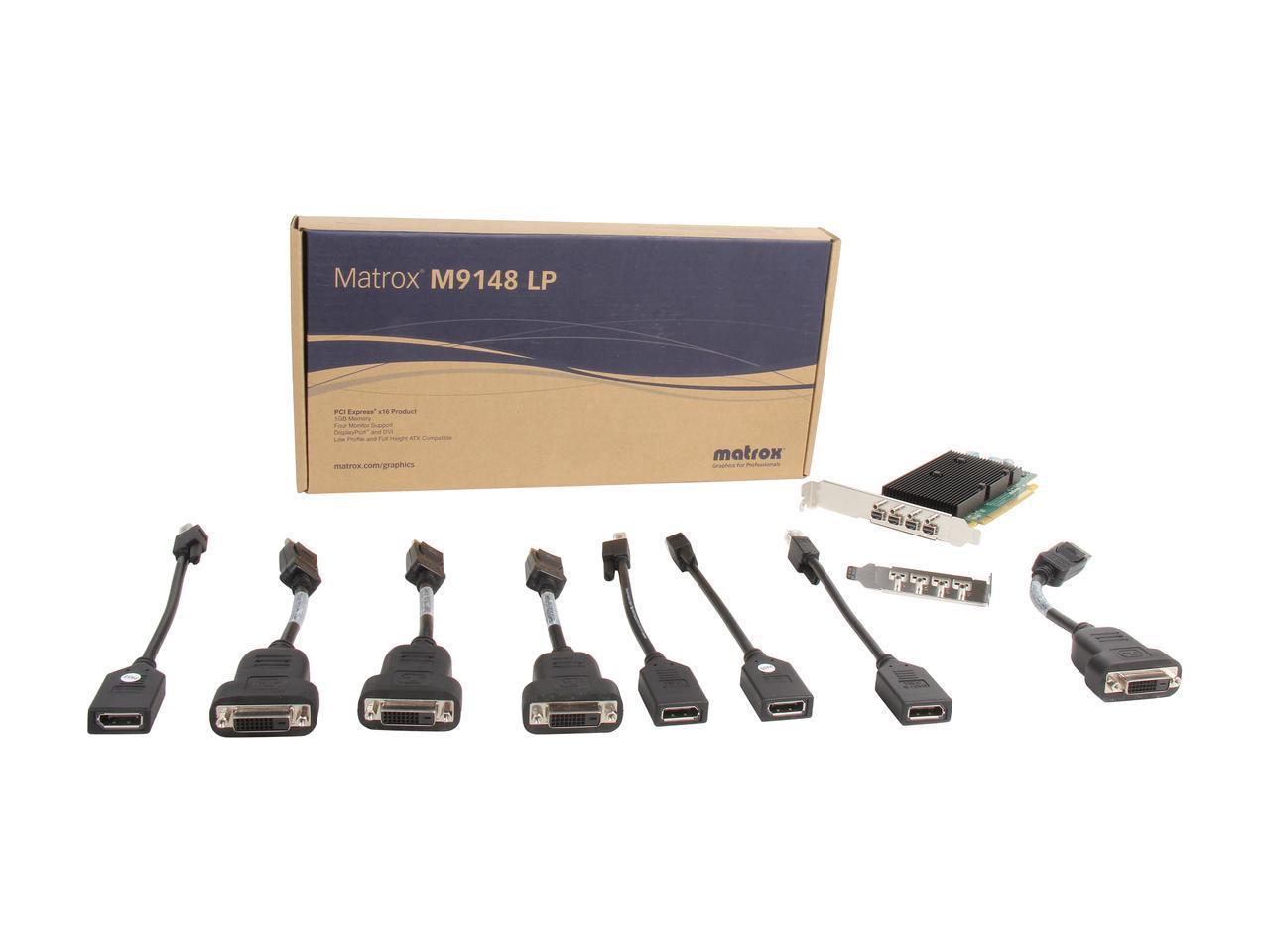 Видео карта MATROX M9148-E1024LAF LP PCIe x16, 4 x mini DP