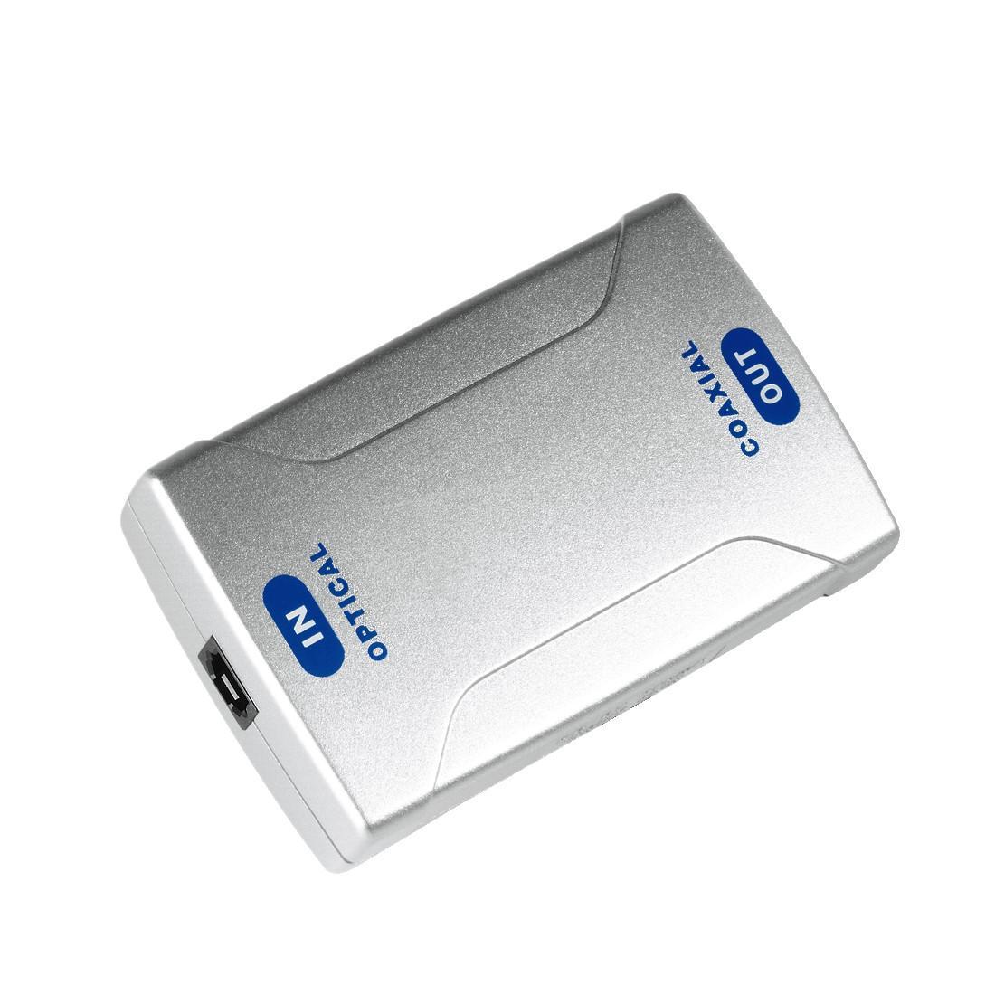 Оптичен конвертор HAMA 42905, Optical IN ODT (Toslink)/Coax OUT, Сребрист