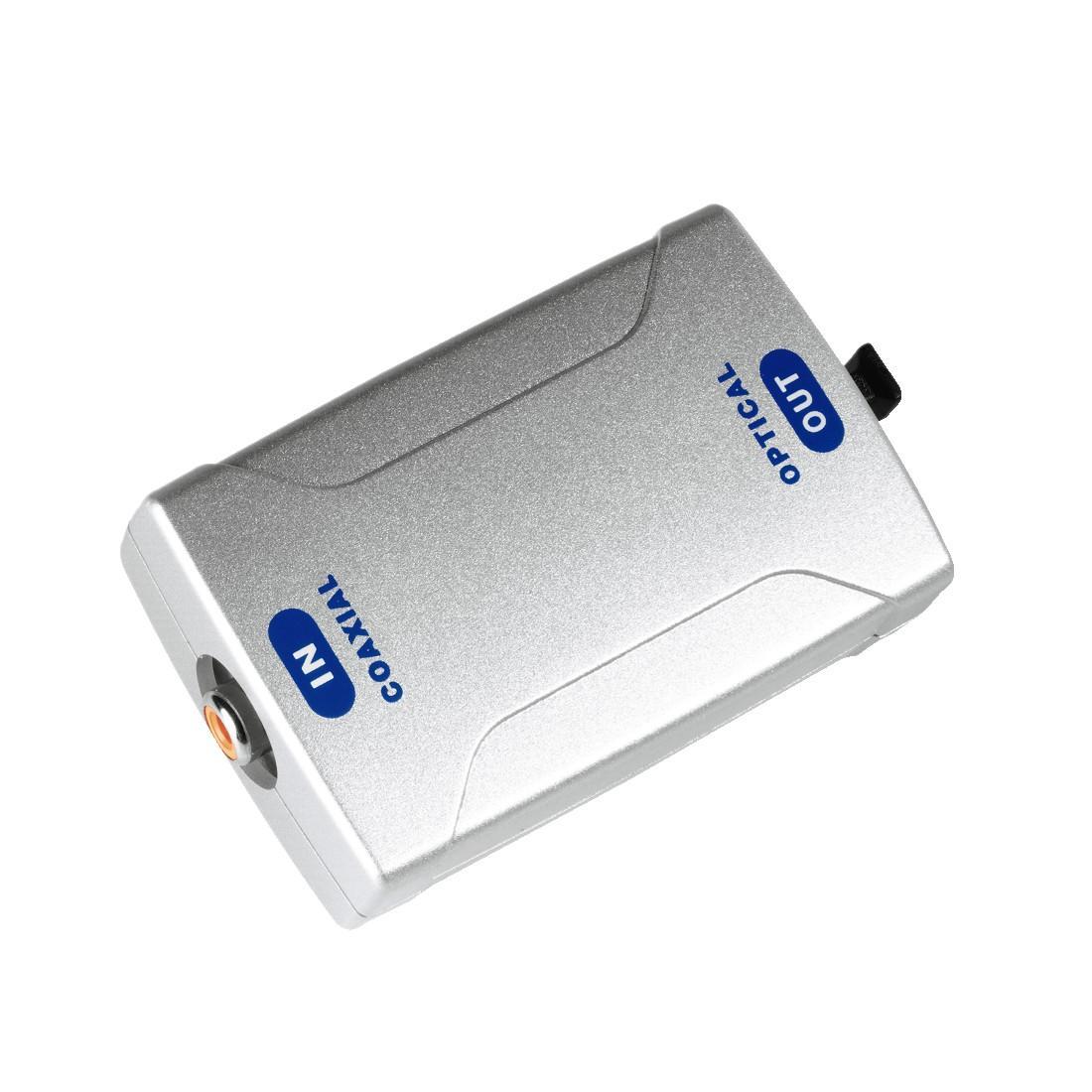 Оптичен конвертор HAMA 42906, Coax IN/Optical OUT ODT, Сребрист