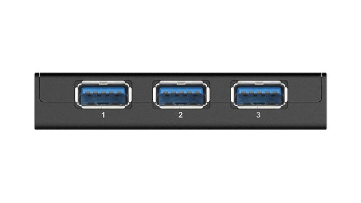 USB хъб D-Link DUB-1340/E със захранване, USB 3.0, Черен