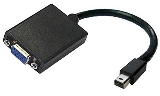 Кабел PNY, mini DisplayPort мъжко - VGA женско, Черен