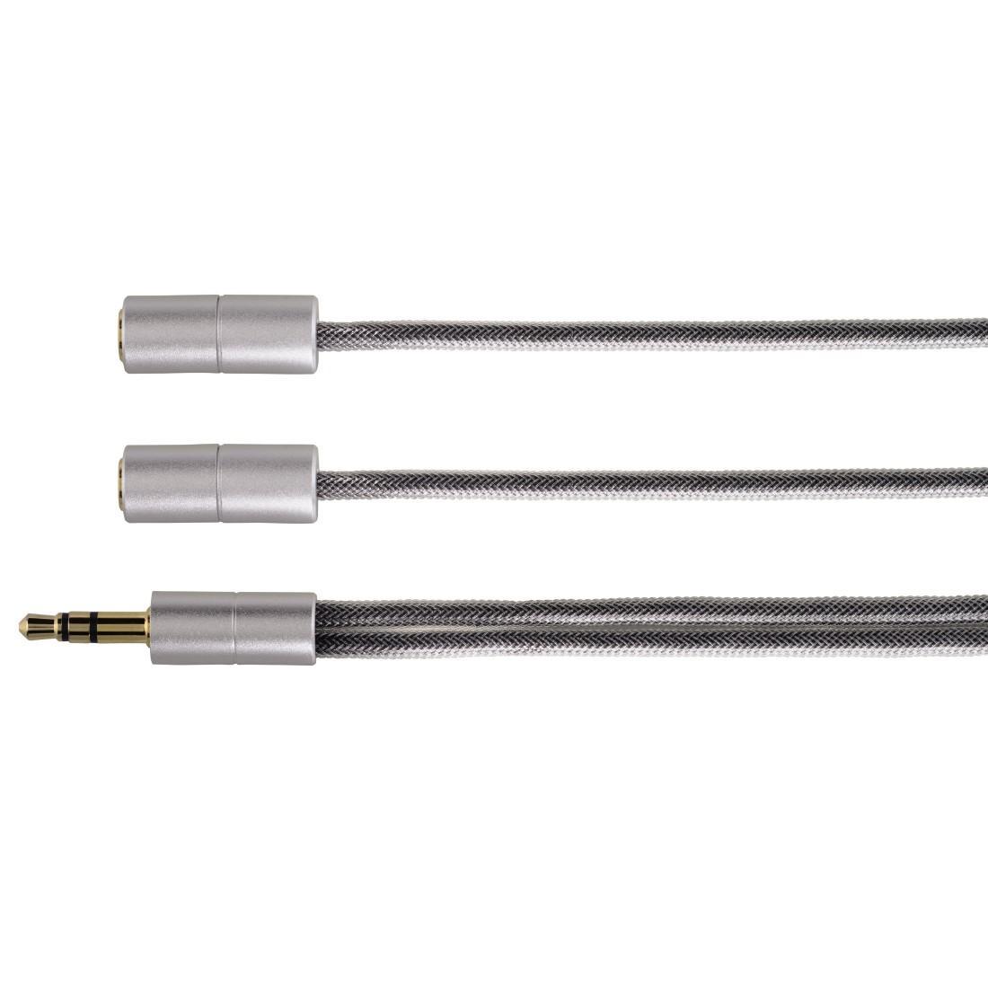 Адаптер HAMA 106334, 3.5 mm жак мъжко - 2 x 3.5 мм женско, стерео
