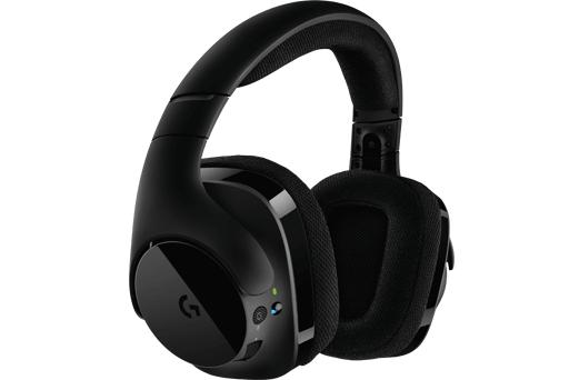 Геймърски слушалки Logitech, G533 DTS 7.1 Surround Sound, Безжични, Микрофон, Черни-2