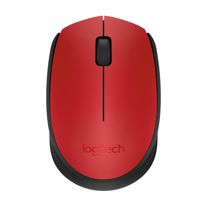 Безжична оптична мишка LOGITECH M171, Червен, USB