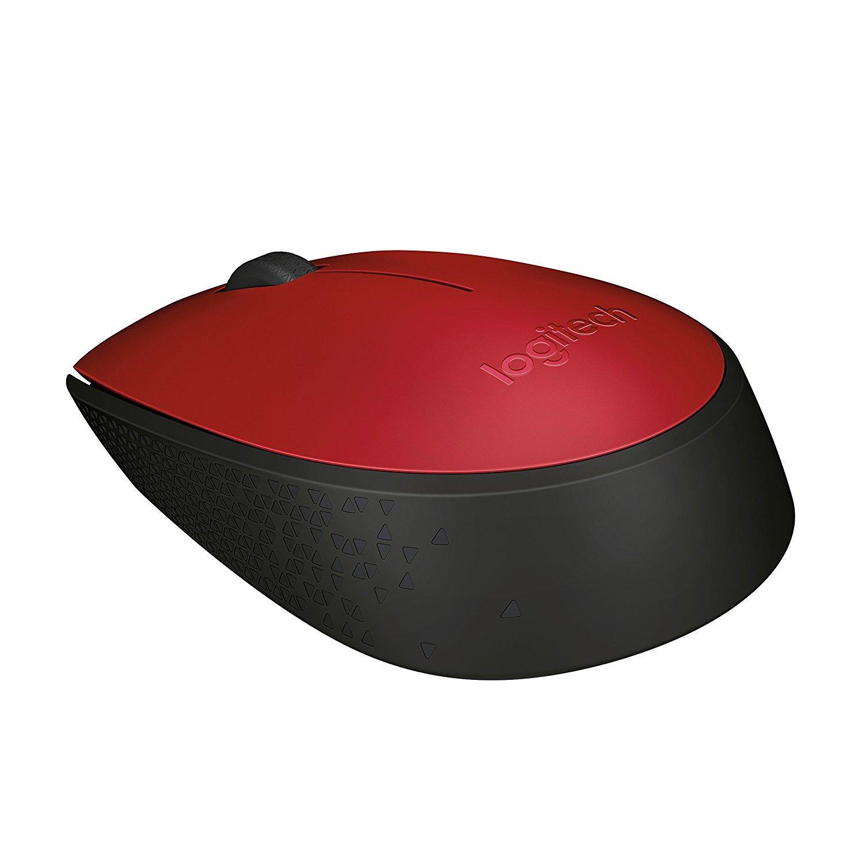 Безжична оптична мишка LOGITECH M171, Червен, USB-2