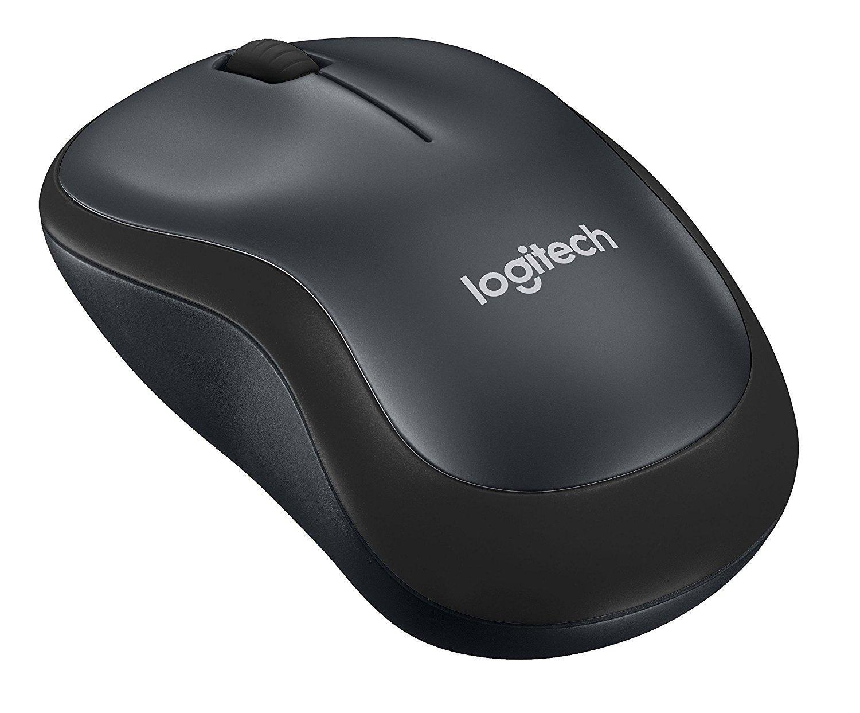 Безжична оптична мишка LOGITECH M220 Silent, Черна, USB-2
